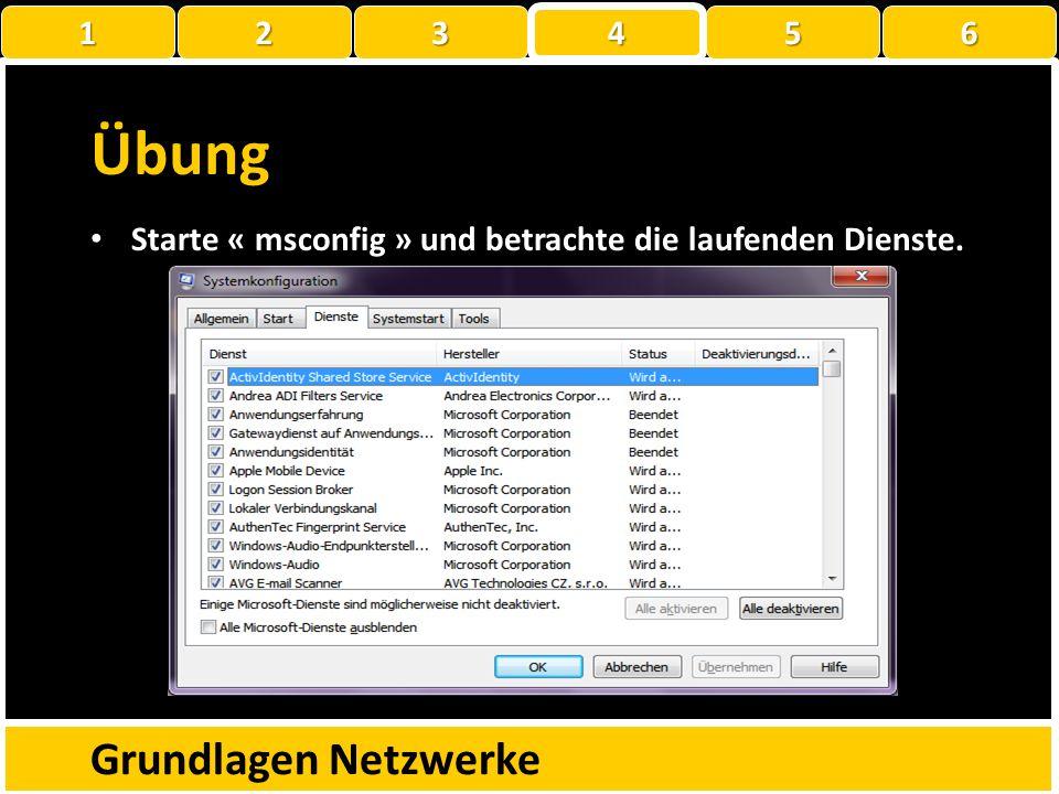 Übung Grundlagen Netzwerke 1 2 3 4 5 6