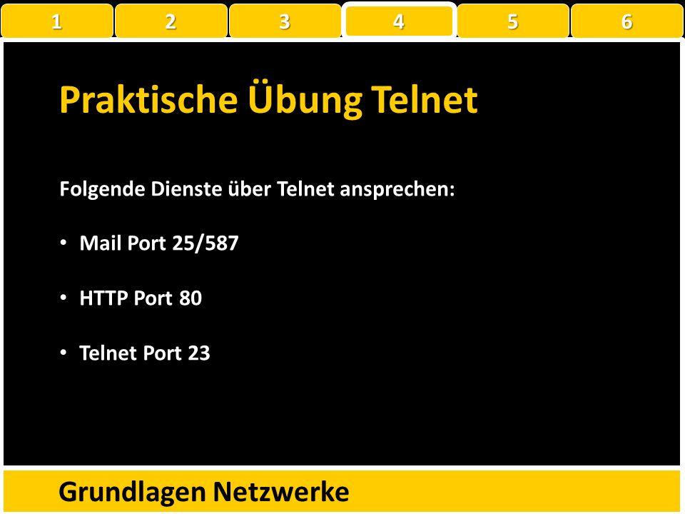 Praktische Übung Telnet