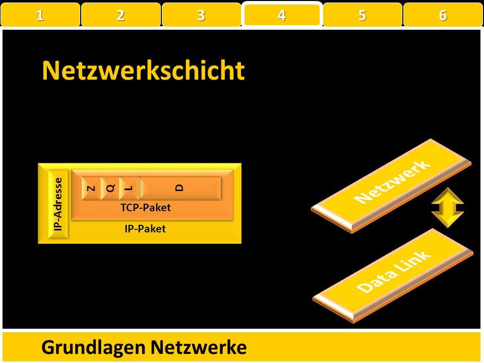 Netzwerkschicht Netzwerk Data Link Grundlagen Netzwerke 1 2 3 4 5 6