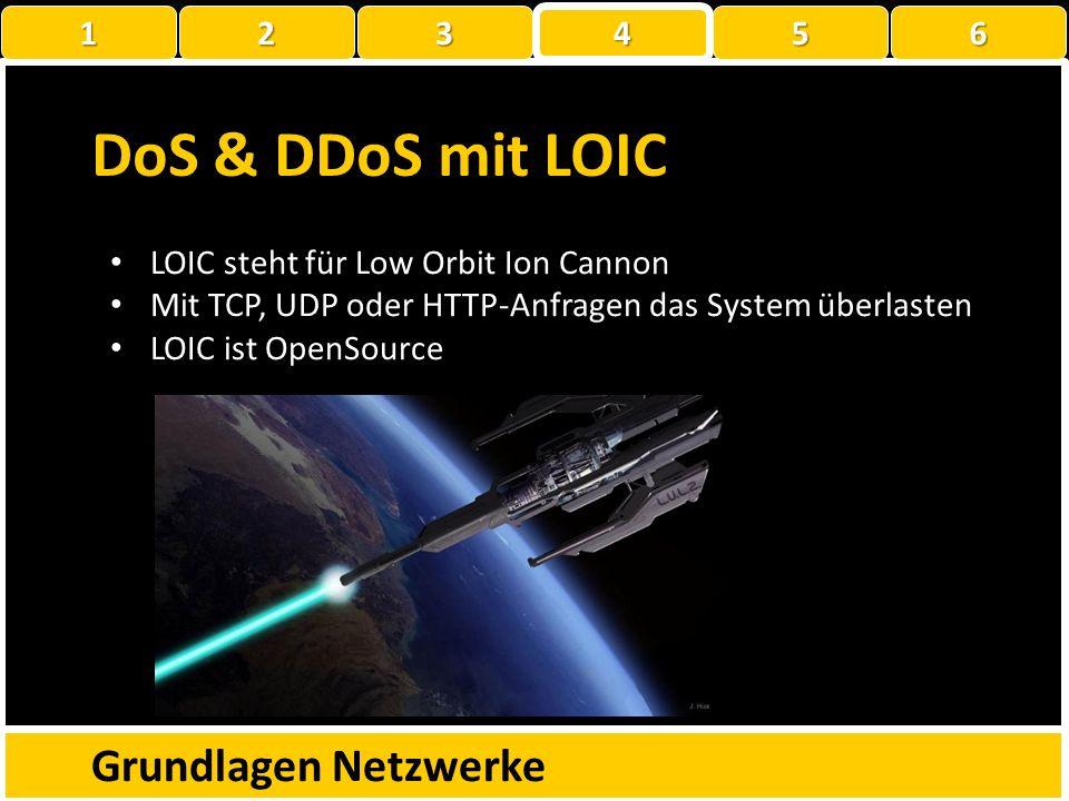DoS & DDoS mit LOIC Grundlagen Netzwerke 1 2 3 4 5 6