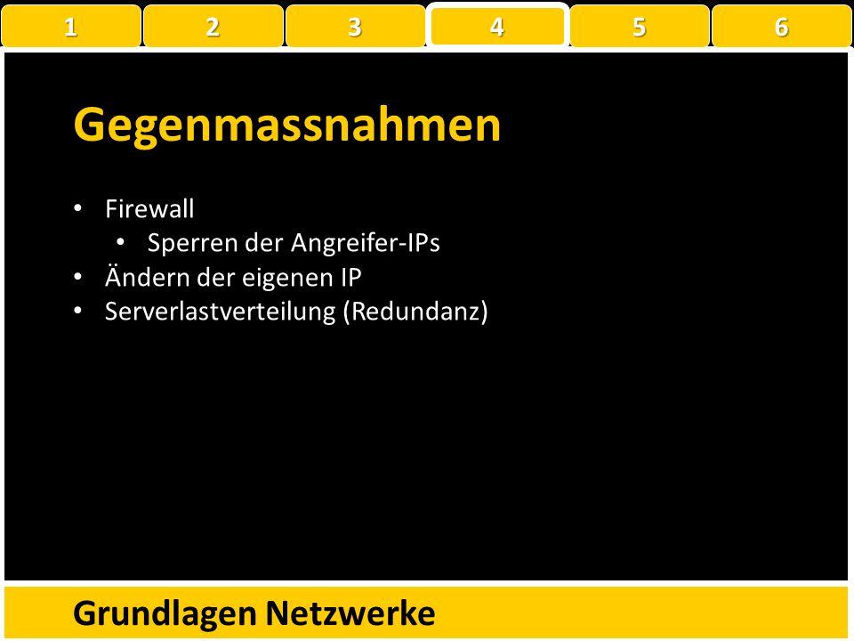 Gegenmassnahmen Grundlagen Netzwerke 1 2 3 4 5 6 Firewall