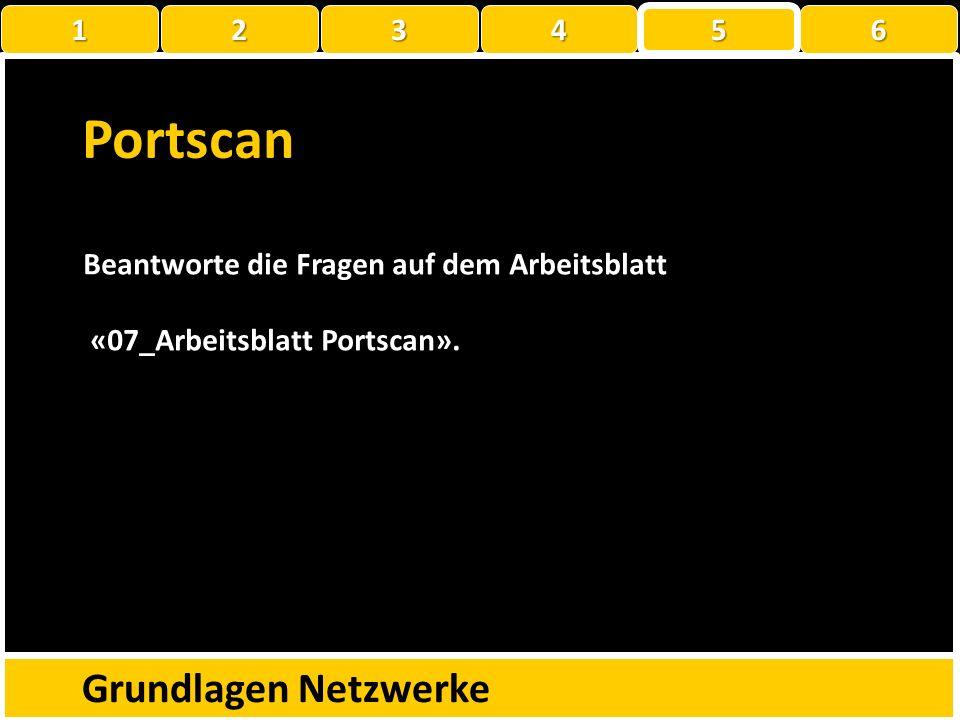 Portscan Grundlagen Netzwerke 1 2 3 4 5 6