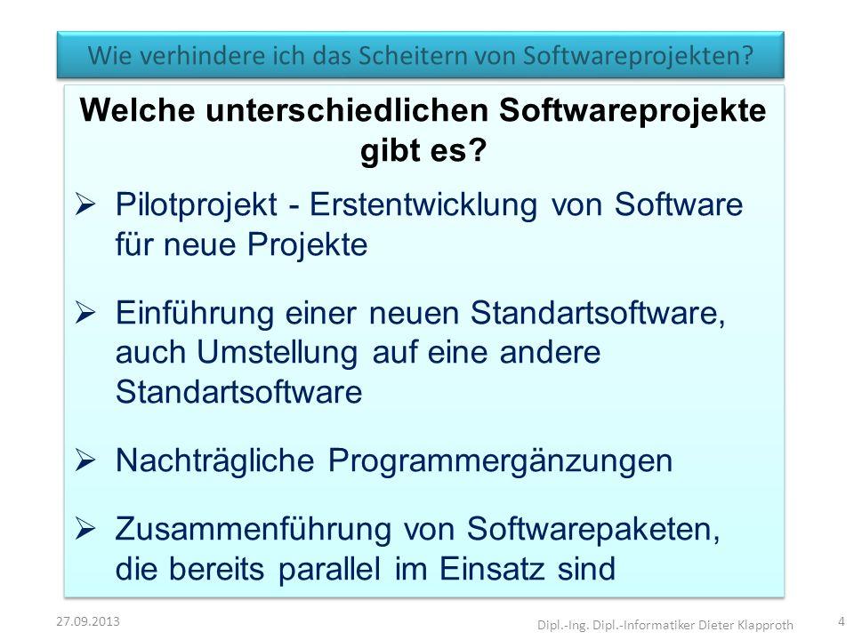 Wie verhindere ich das Scheitern von Softwareprojekten
