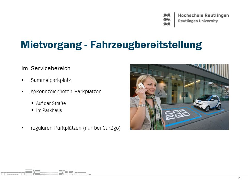 Mietvorgang - Fahrzeugbereitstellung
