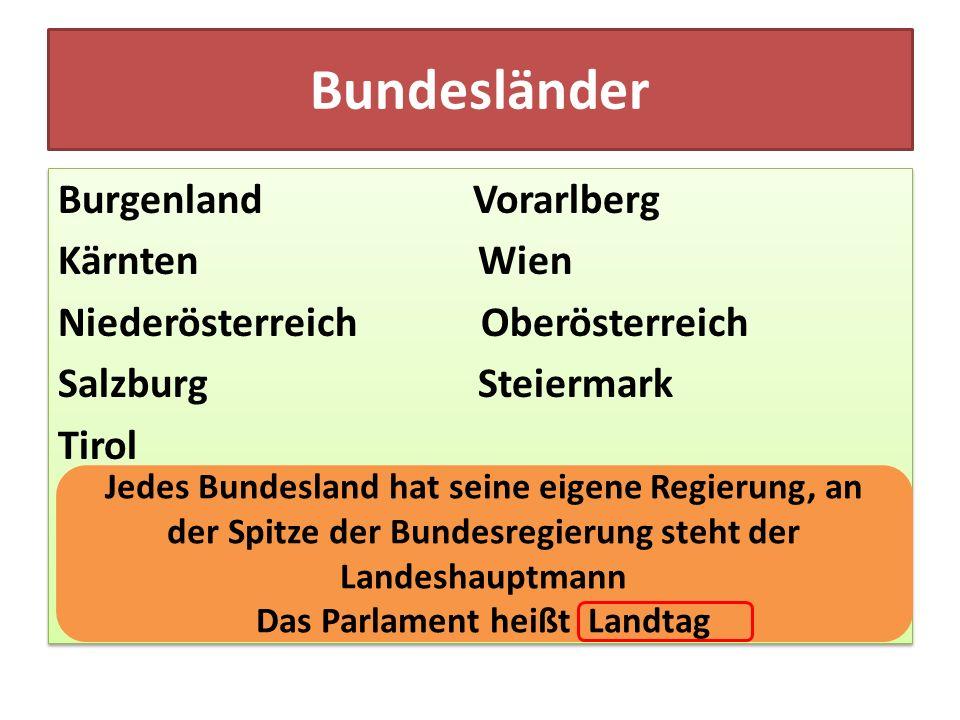 Das Parlament heißt Landtag