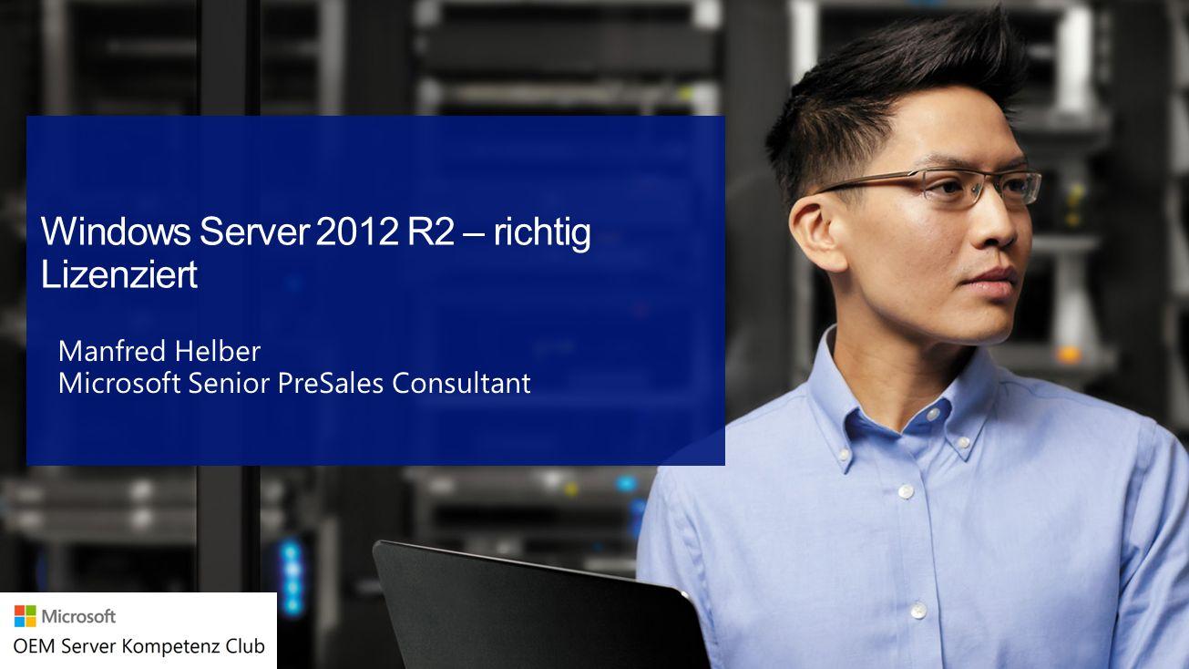 Windows Server 2012 R2 – richtig Lizenziert