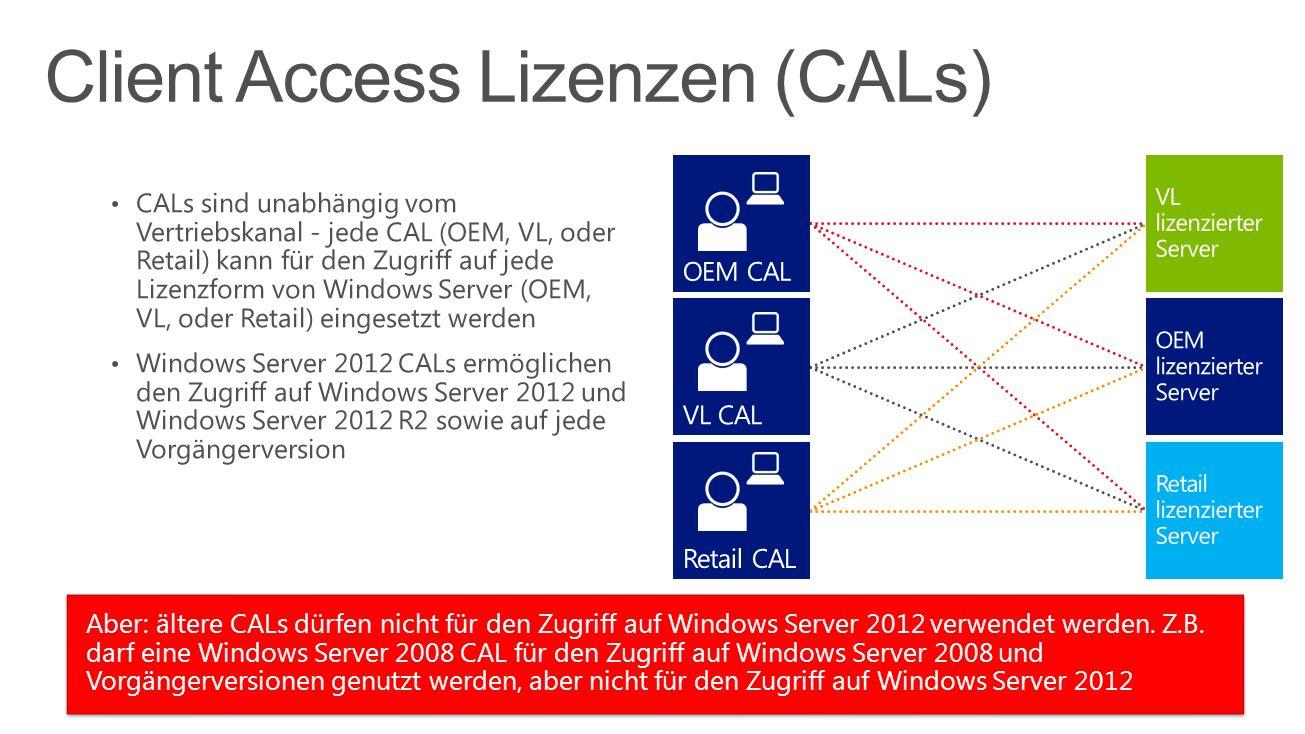 Client Access Lizenzen (CALs)