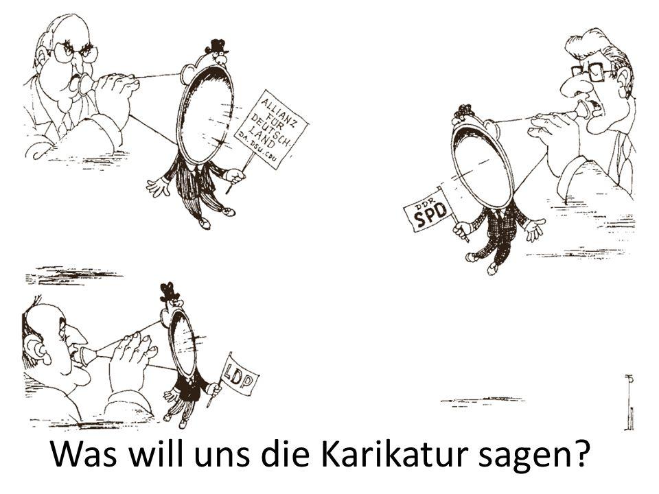 Was will uns die Karikatur sagen