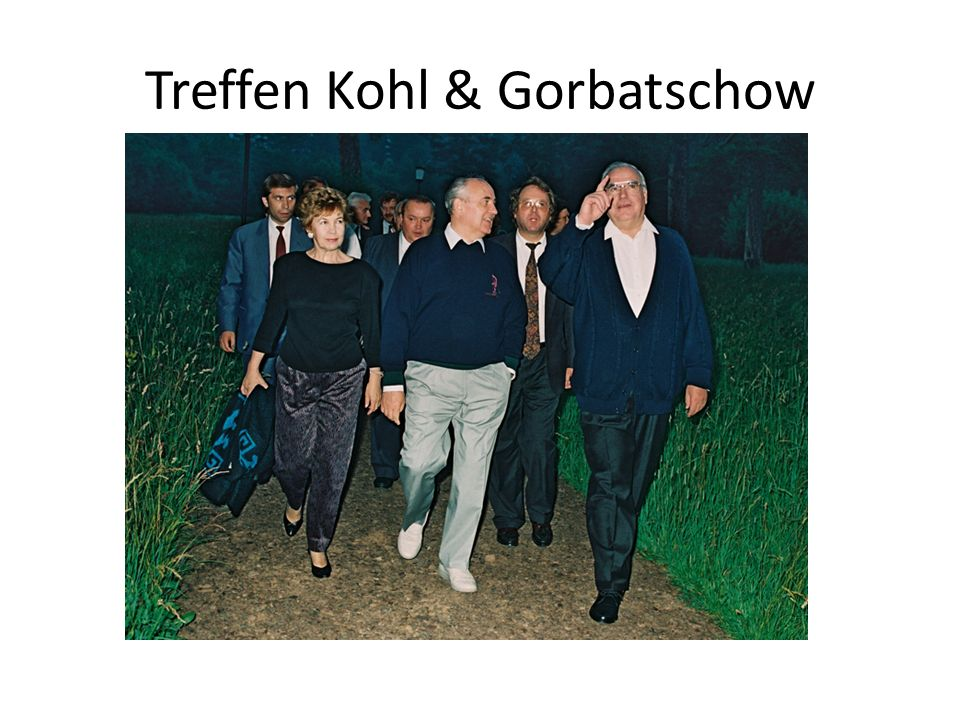 Treffen Kohl & Gorbatschow