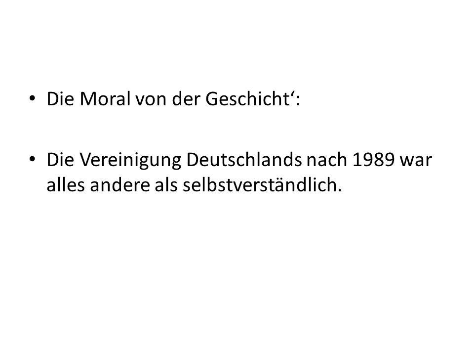 Die Moral von der Geschicht':