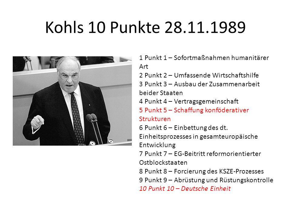 Kohls 10 Punkte 28.11.1989 1 Punkt 1 – Sofortmaßnahmen humanitärer Art