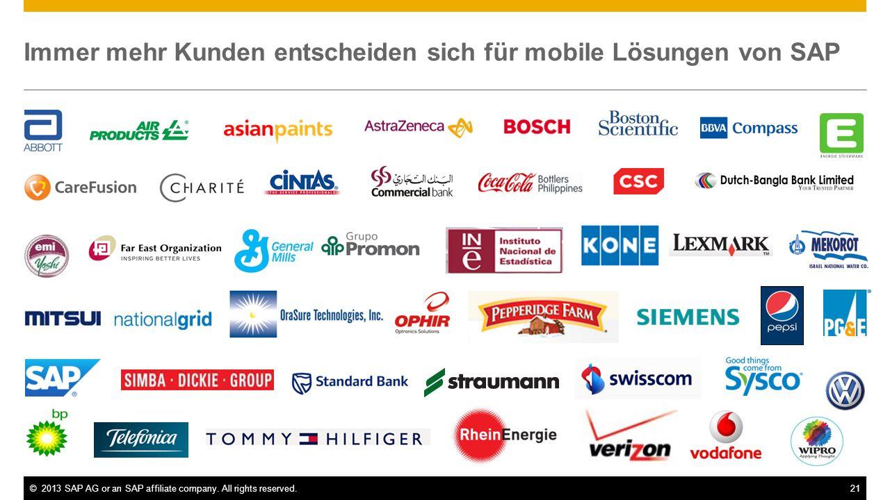 Immer mehr Kunden entscheiden sich für mobile Lösungen von SAP