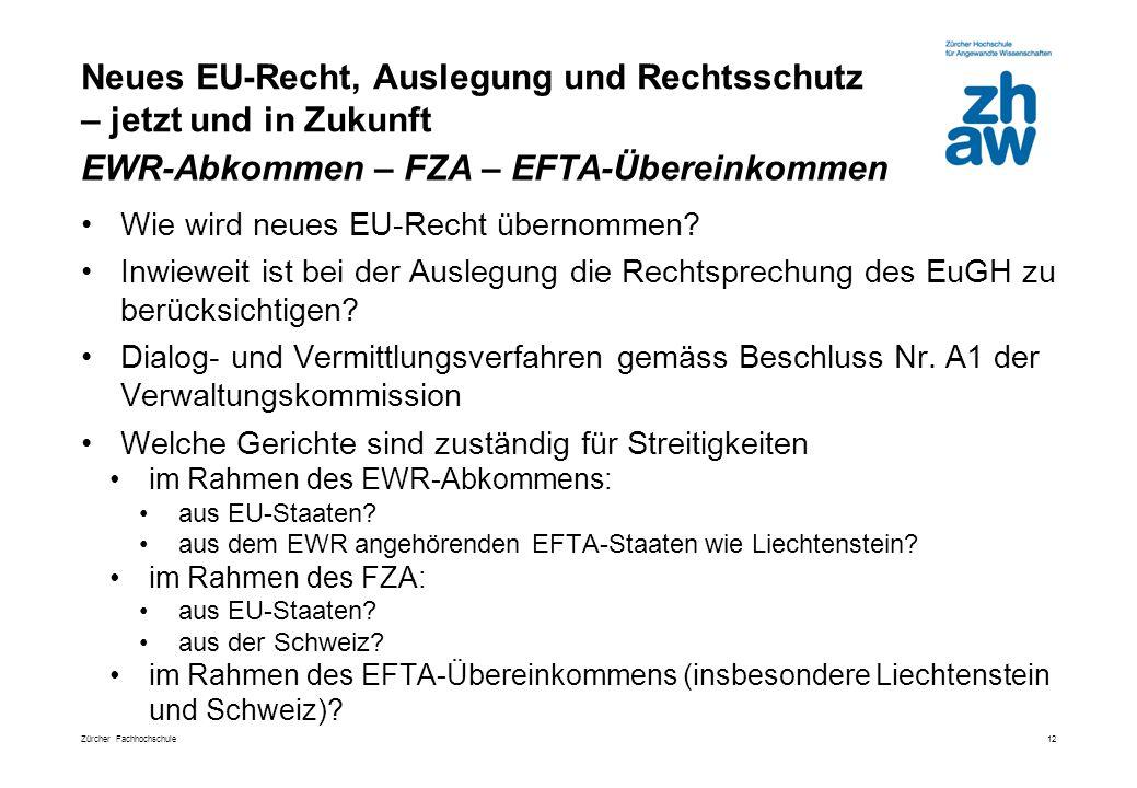 Neues EU-Recht, Auslegung und Rechtsschutz – jetzt und in Zukunft