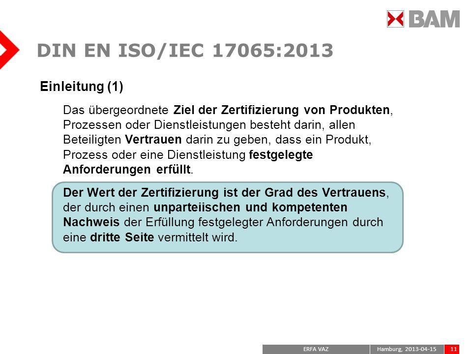 DIN EN ISO/IEC 17065:2013 Einleitung (1)