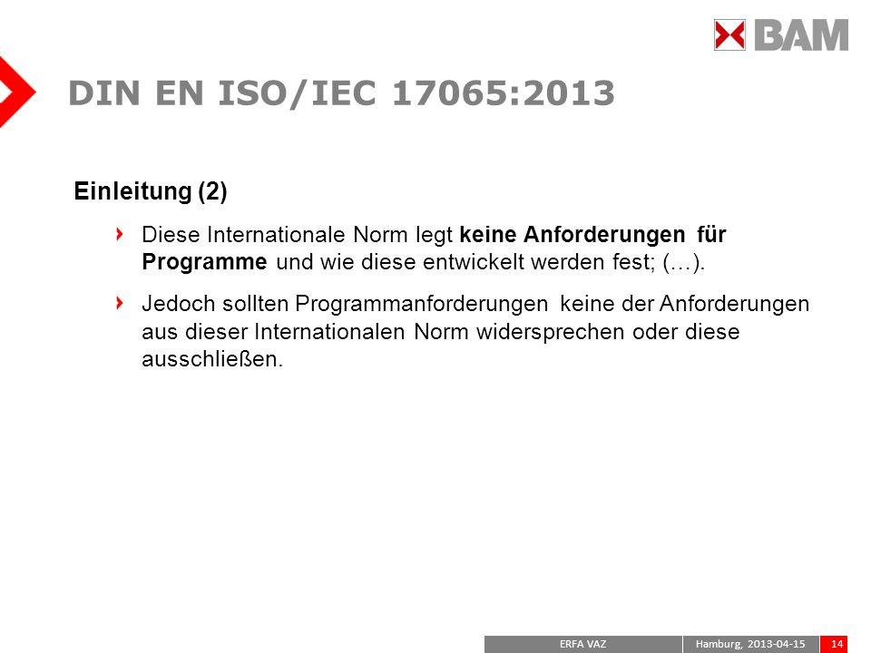 DIN EN ISO/IEC 17065:2013 Einleitung (2)