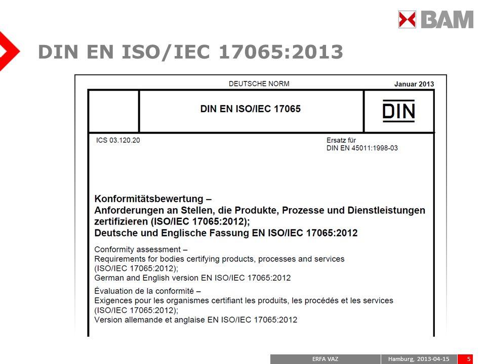 DIN EN ISO/IEC 17065:2013