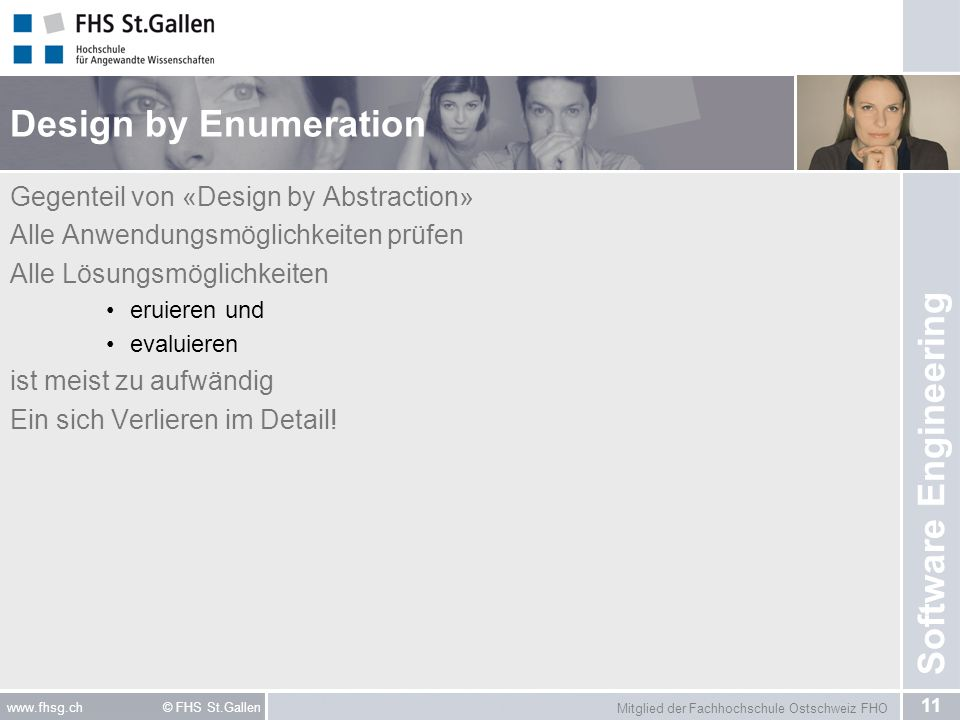 Design by Enumeration Gegenteil von «Design by Abstraction»