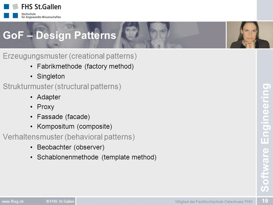 GoF – Design Patterns Erzeugungsmuster (creational patterns)