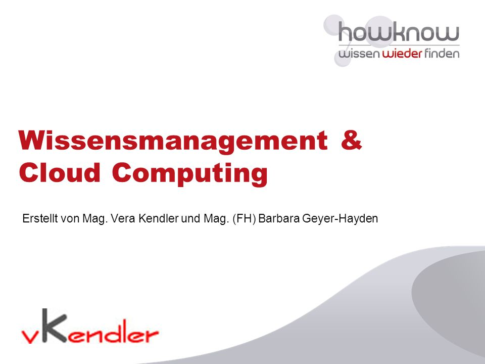 Wissensmanagement & Cloud Computing