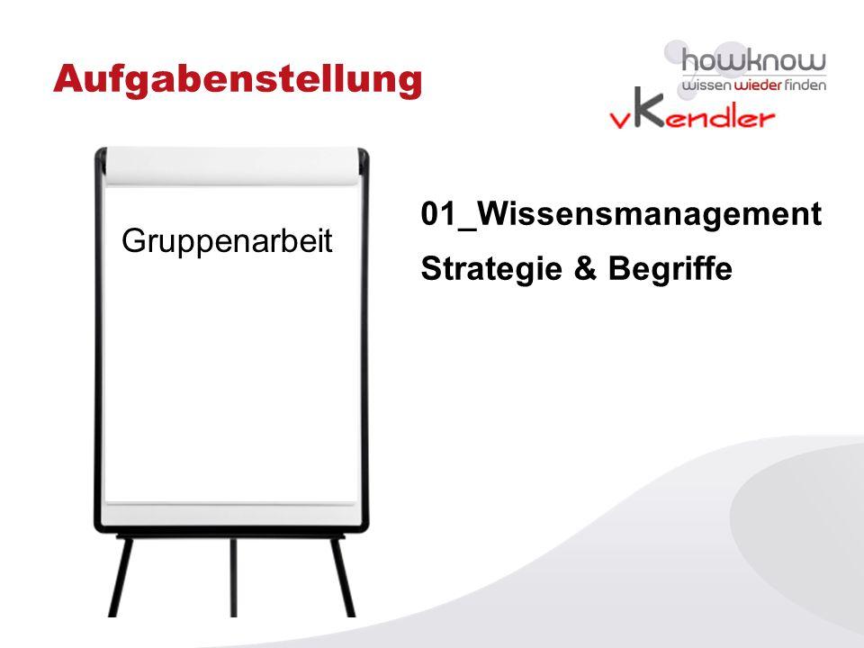 Aufgabenstellung 01_Wissensmanagement Gruppenarbeit