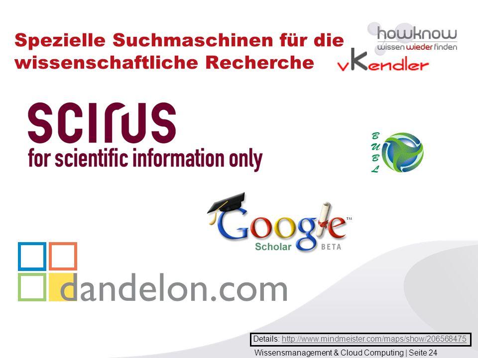 Spezielle Suchmaschinen für die wissenschaftliche Recherche