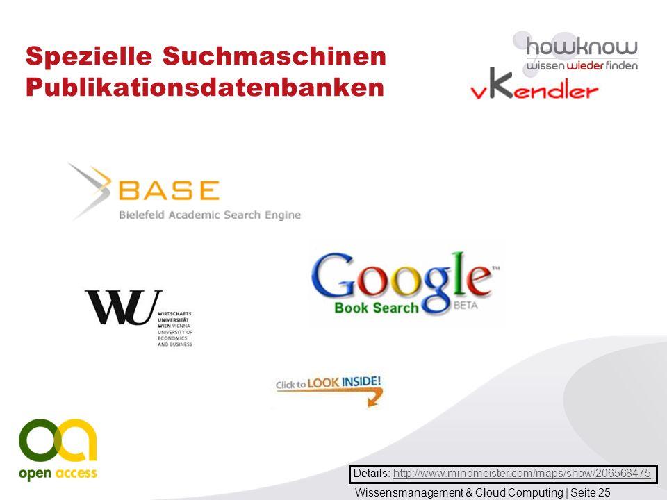 Spezielle Suchmaschinen Publikationsdatenbanken