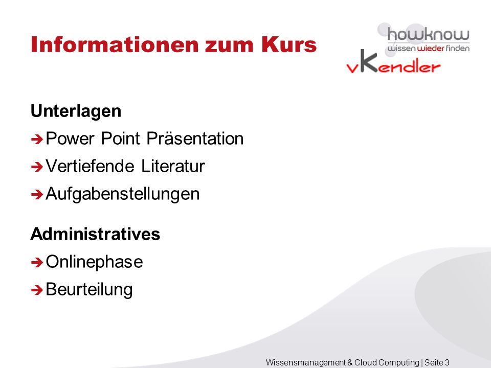 Informationen zum Kurs
