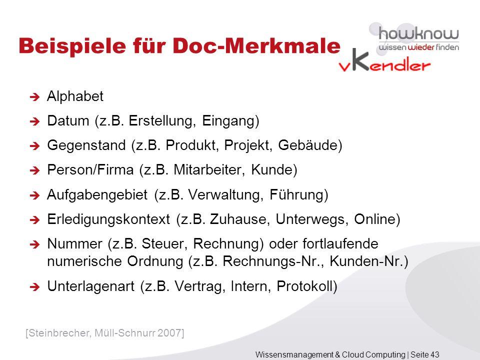 Beispiele für Doc-Merkmale