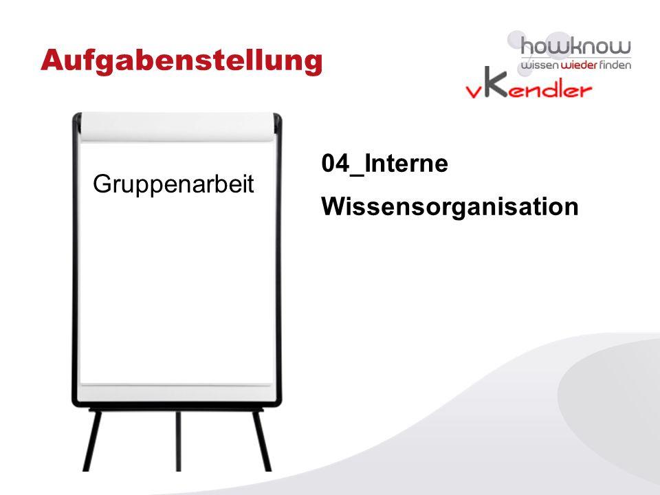 Aufgabenstellung 04_Interne Wissensorganisation Gruppenarbeit