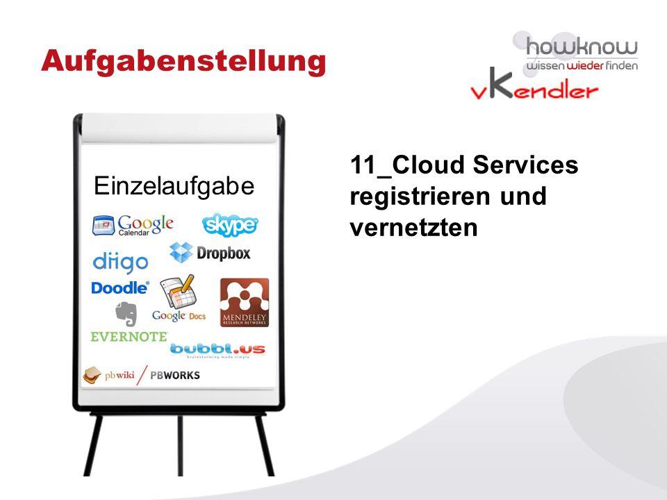 Aufgabenstellung 11_Cloud Services registrieren und vernetzten
