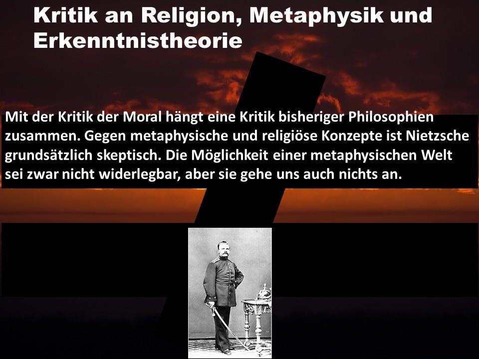 Kritik an Religion, Metaphysik und Erkenntnistheorie