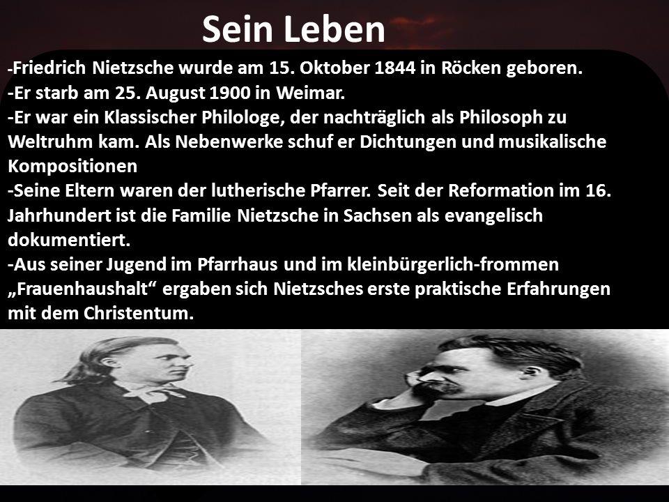 Sein Leben -Er starb am 25. August 1900 in Weimar.