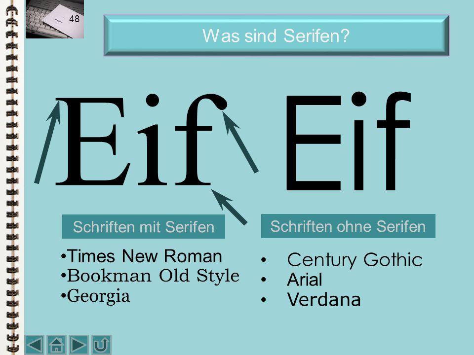 Schriften ohne Serifen