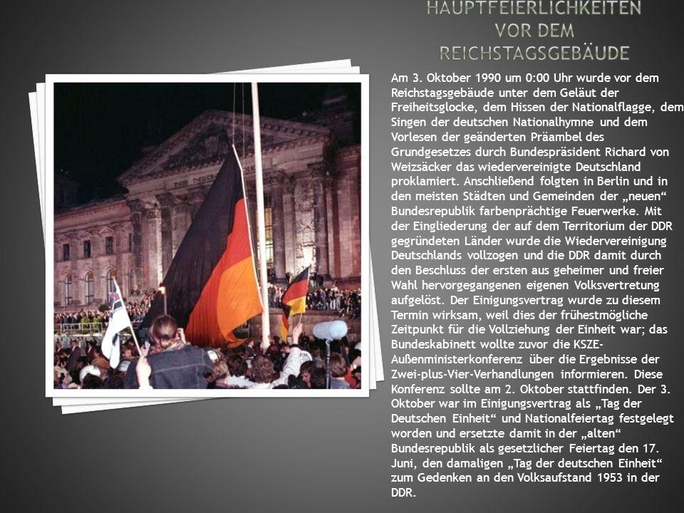Hauptfeierlichkeiten vor dem Reichstagsgebäude