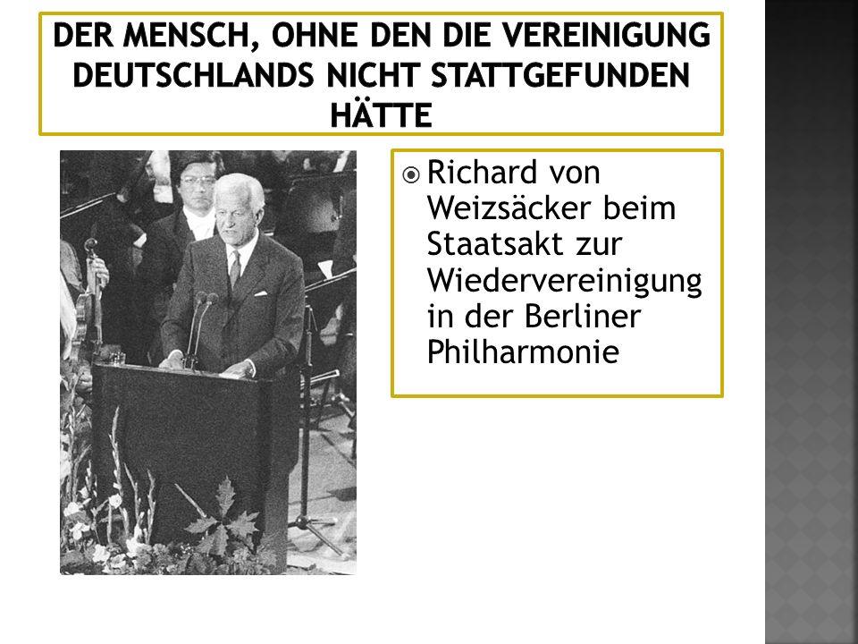 Der Mensch, ohne den die Vereinigung Deutschlands nicht stattgefunden hätte