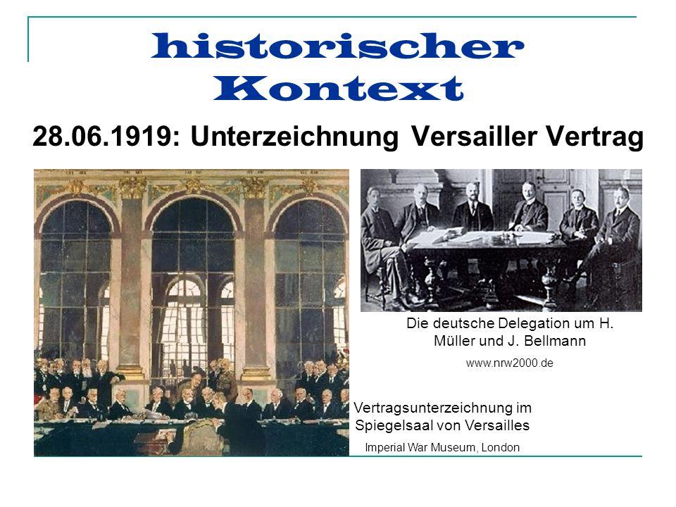 28.06.1919: Unterzeichnung Versailler Vertrag