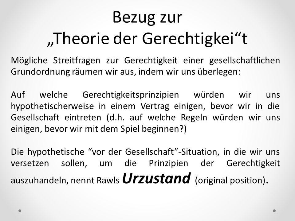 """""""Theorie der Gerechtigkei t"""