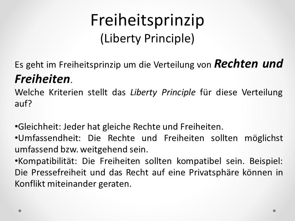Freiheitsprinzip (Liberty Principle)