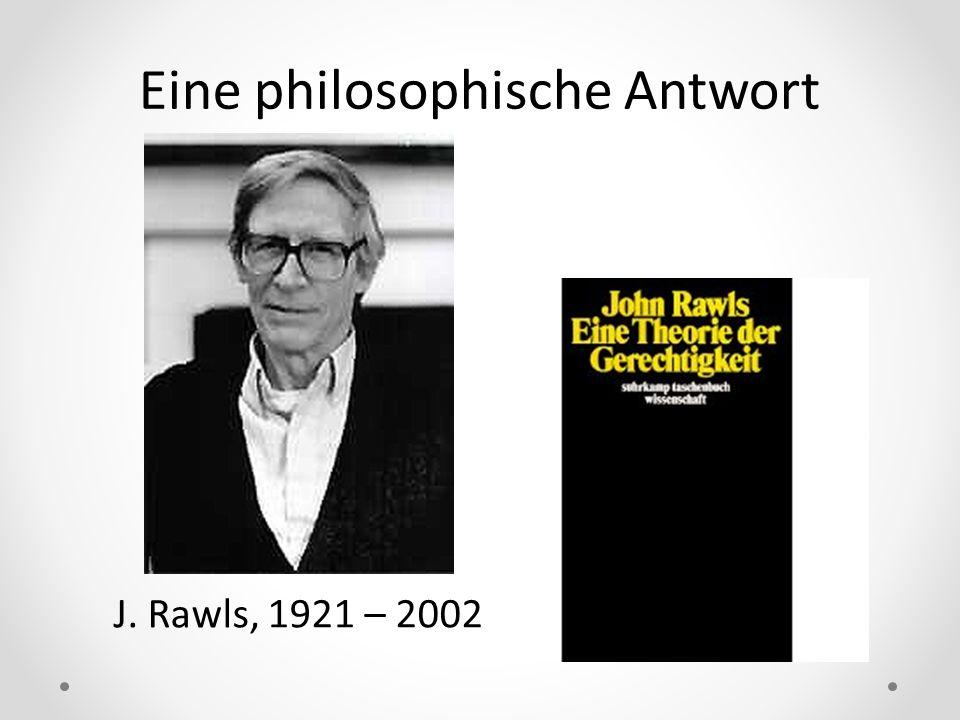 Eine philosophische Antwort