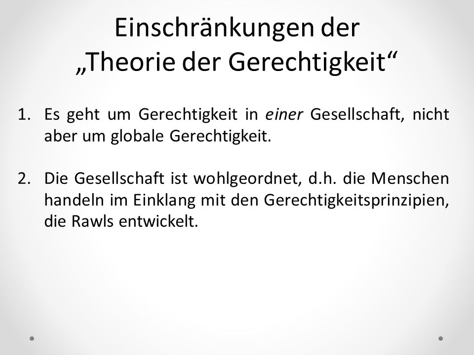 """""""Theorie der Gerechtigkeit"""