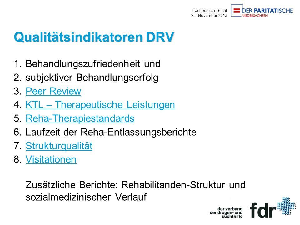 Qualitätsindikatoren DRV