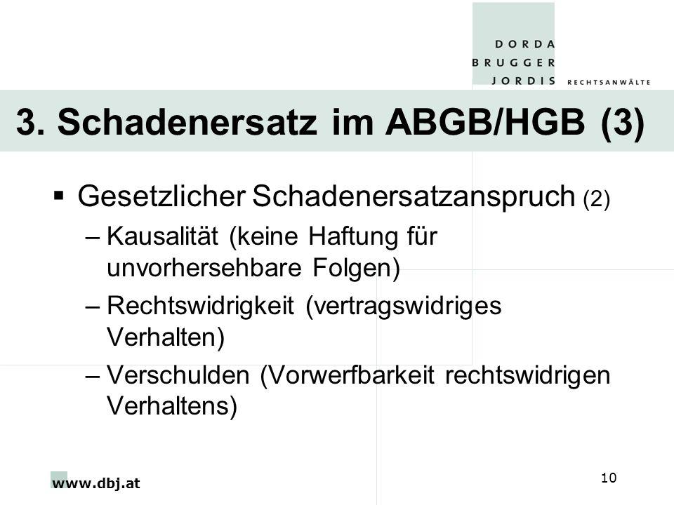 3. Schadenersatz im ABGB/HGB (3)