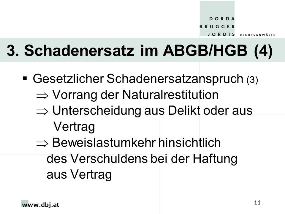 3. Schadenersatz im ABGB/HGB (4)