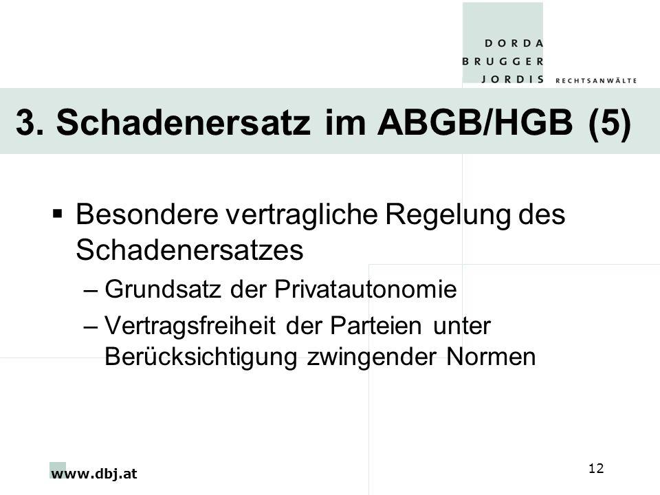 3. Schadenersatz im ABGB/HGB (5)