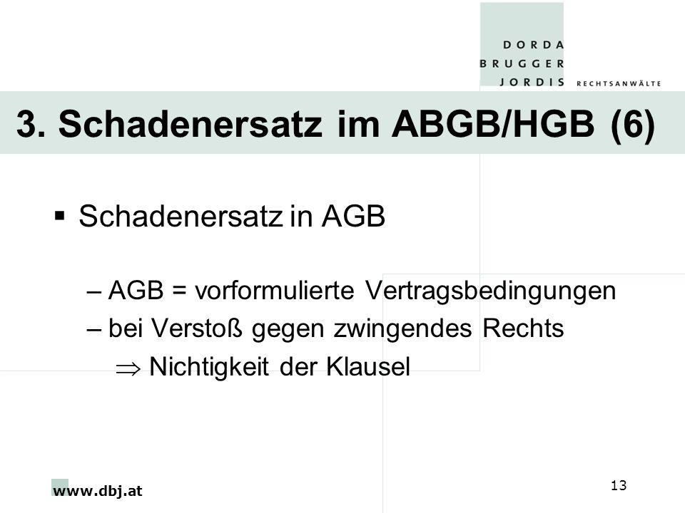 3. Schadenersatz im ABGB/HGB (6)