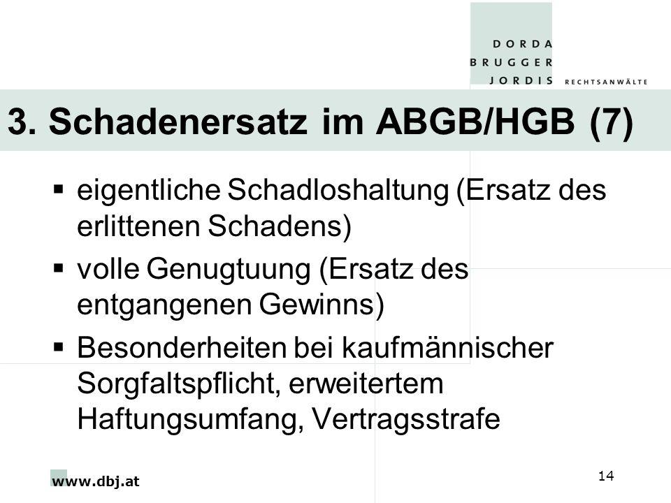 3. Schadenersatz im ABGB/HGB (7)