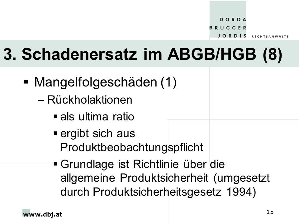 3. Schadenersatz im ABGB/HGB (8)