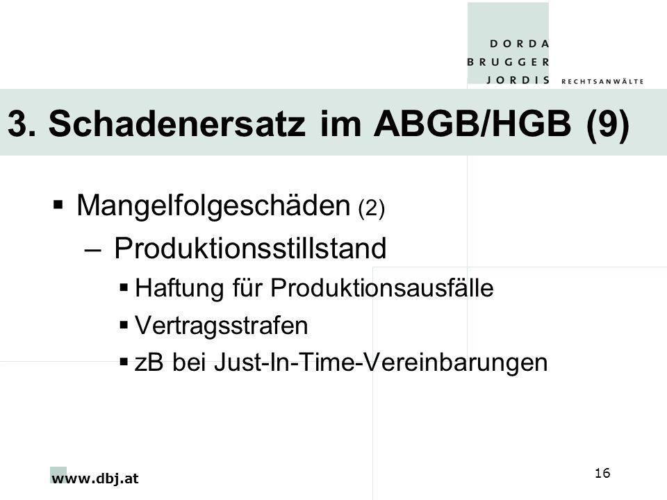 3. Schadenersatz im ABGB/HGB (9)