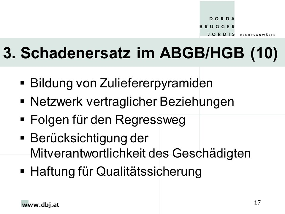 3. Schadenersatz im ABGB/HGB (10)