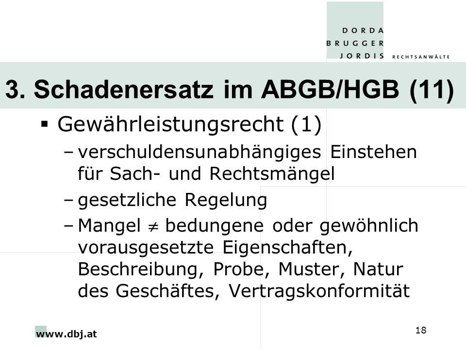 3. Schadenersatz im ABGB/HGB (11)